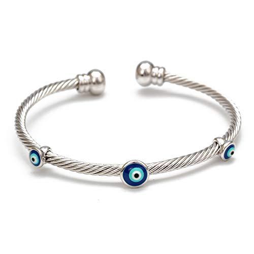 Nobrand Türkisches Böses Auge Armreif Armband Gold Silber Farbe Armreifen Geschenke Für Frauen Männer Modeschmuck