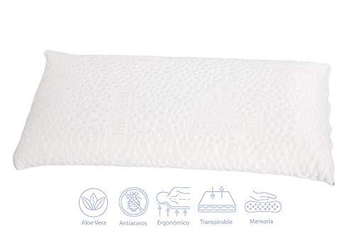 Imperial Confort 97009002–Cuscino, Poliestere, 80x 12x 36cm, Colore: Bianco