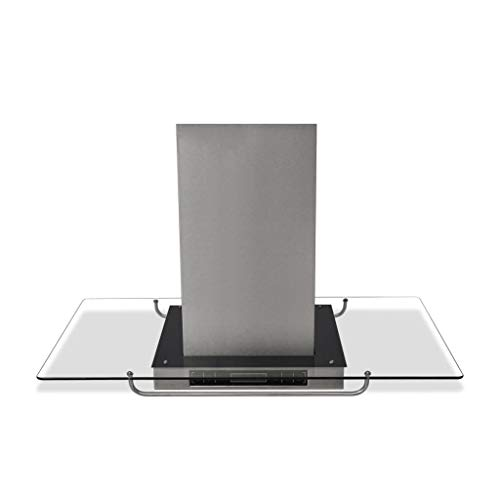 Dunstabzugshaube für die Küche, mit Touchscreen, LCD, Dunstabzugshaube, dekorativ, aus Edelstahl und Glas, Saugleistung 750 m3/h, Lärm ≤65 dB, 90 x 54 x 59-106 cm