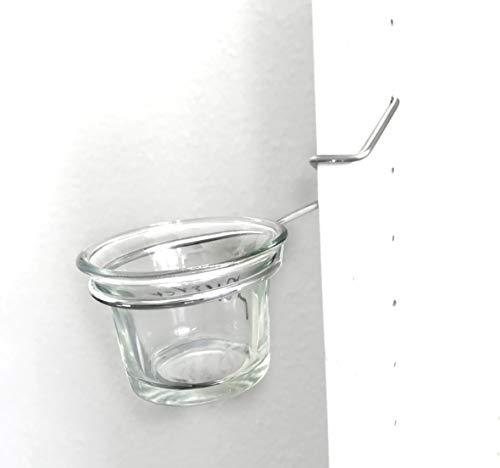 ShopHerzog - Juego de 3 portavelas para estanterías Ivar y Billy en diferentes versiones, galvanizado. Se incluyen 3 portavelas Patentgeschützt - Made in Germany (Ivar), BILLY links