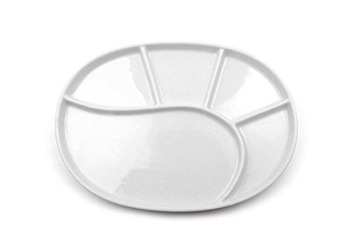 kela Fondueteller VRONI oval 27 cm in weiß glänzend