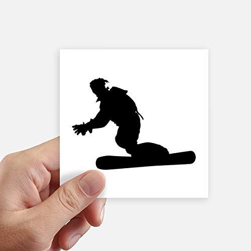 DIYthinker Plaza Patronato de Deportes del esquí del esquí Jugador Pegatinas Pared de 10 cm Maleta portátil Motobike Decal 8pcs 10cm x 10cm