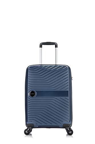 Flymax - Maletas grandes en 4 ruedas para equipaje ligero y rígido, resistente y duradero, combinación de 3 dígitos integrada azul marino CABIN