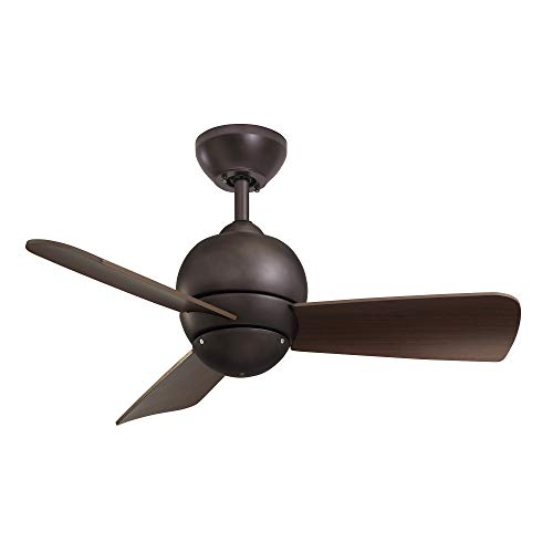 kathy ireland HOME Tilo Modern Ceiling Fan, 30 Inch | Dual Mount Low Profile Hugger with 3 Blades |...
