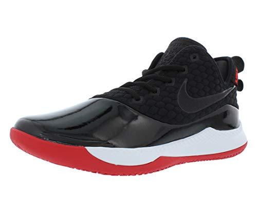 Nike Men's Lebron Witness III PRM Basketball Shoe (12 M US, Black/White/University Red)
