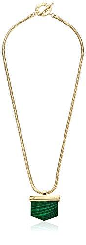 CC SKYE Gold and Malachite Earth Stone Pendant Necklace