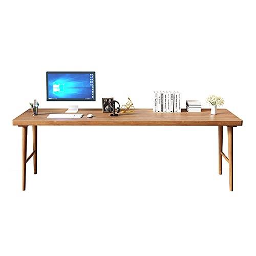 Escritorio Escritorio de escritorio de madera estable de escritorio de escritorio moderno minimalista moderno ORDENADOR PERSONAL Tabla de estudio de trabajo de pino de la estación de trabajo, fácil de