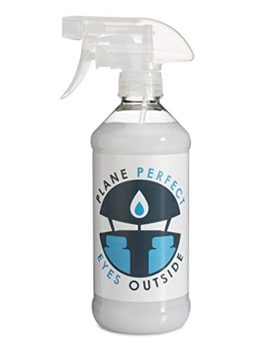 Plane Perfect Eyes Outside Plastic and Glass Windshield Cleaner for Aviation, Auto, Motorcycle, and Marine Acrylic Lexan Lucite Plexiglass LCD Cleaner (16 oz. Spray Bottle)