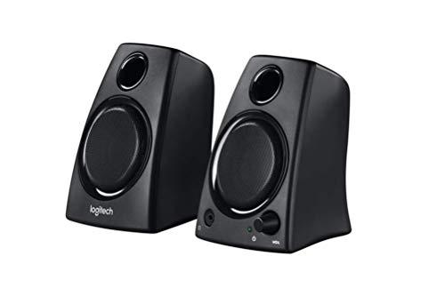 Logitech Z130 PC-Lautsprecher, Stereo Sound, 2 Lautsprecher, 10 Watt Spitzenleistung, 3,5 mm Eingang, Klarer Sound, Regler am rechten Lautsprecher, UK Stecker, PC/TV/Handy/Tablet - UK Edition