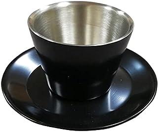 Rovatti Stainless Coffee Cup Set Black 200ml