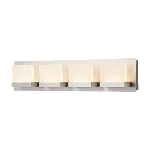 Home Decorators Collection Alberson 4-Light Brushed Nickel LED Bath Bar Light