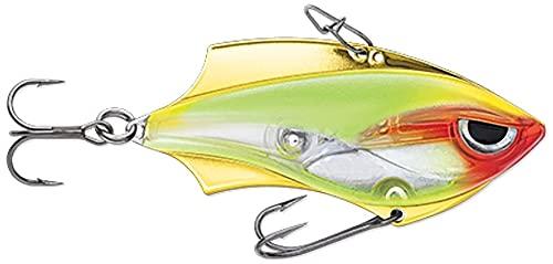 Rapala Rap-V Blade 6 cm 14 g – Cebo con vibración para perca, lucioperca y lucio, cebo artificial para pesca de peces depredadores para pesca spinning, color: payaso