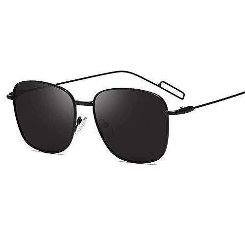Gafas De Sol para Hombre Y Mujer Moda Polarizadas Gafas ProteccióN para ConduccióN Gafas De Deportes Al Aire Libre De Pesca De Moda Regalo de San Valentín (Color : Black-Framed Gray Spectacles)