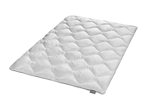 Traumnacht 4-Star teilbare Bettdecke 4-Jahreszeiten, aus Baumwollmischgewebe, 135 x 200 cm, waschbar, weiß