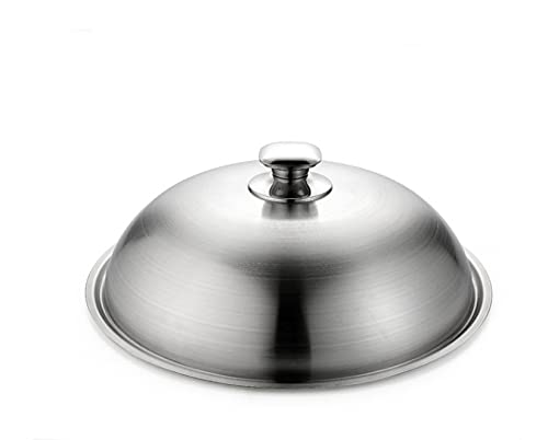 Thicken Increase High Saucepan Lid, Premium Grill and Plancha Bell, Stainless Steel Pan Lids-30cm