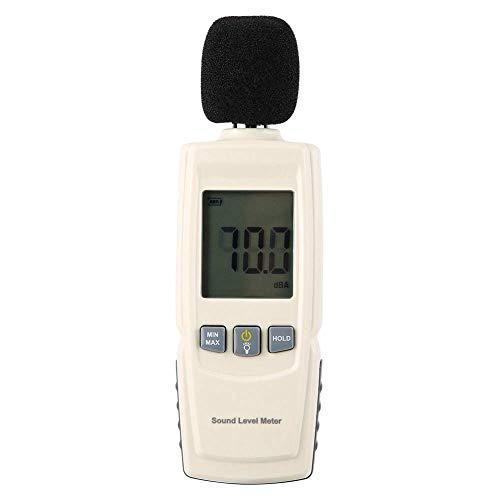 Schallpegelmessgerät, 30-130dBA Digitaler Schallpegelmesser mit großem LCD Bildschrim, Tragbar Digital Sound Level Meter mit 1/2 Zoll Kondensatormikrofon