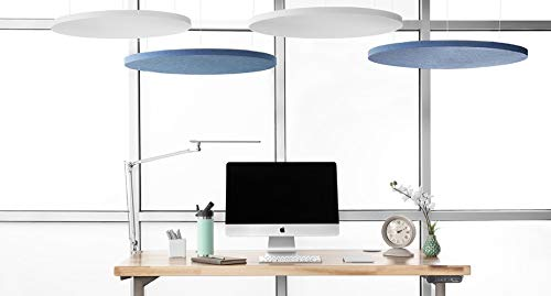 UPLIFT Desk - Circular Acoustic Ceiling Cloud (White, Large)