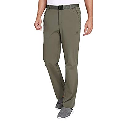 CAMEL CROWN Men's Hiking Pants Waterproof Quick Dry Lightweight,Stretch Slim Fit Pants with Elastic Waistband Khaki Large