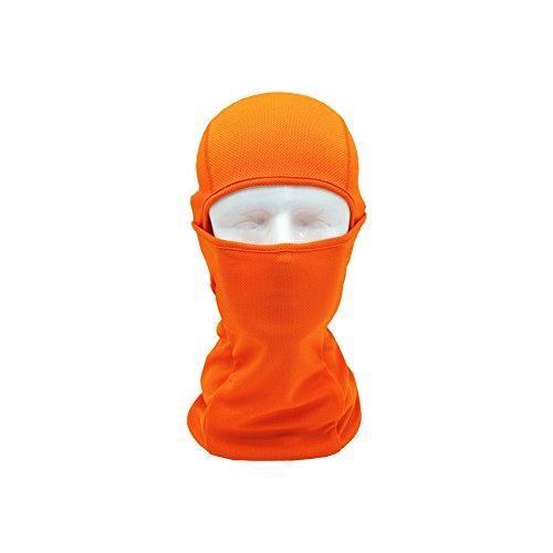 Brave Pioneer Sturmhaube Winter Kopfbedekung Balaclava Sturmmaske Gesichtshaube Fahrradmaske Atmungsaktiv Winddicht Motorrad Skimaske Ourdoor Radsport Winter Sommer (orange)