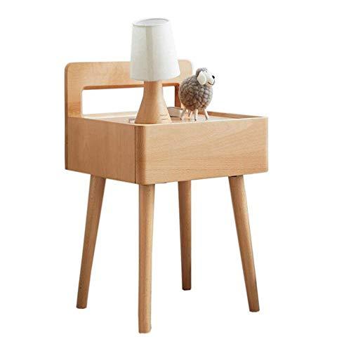 XBR Tablett Beistelltisch, Tische Nachttisch, Student Nachttische, Teen Buche Schließfächer, alle Massivholzmöbel, tragbarer Couchtisch Farbe: Holz, Größe: 15.7413.5825.19in
