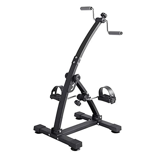 Bicicleta estática, mano brazo pierna y rodilla Entrenador para entrenamiento de extremidades superiores e inferiores, resistencia y altura ajustables/Black / 87x44.5x40.5cm