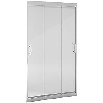 Mampara ducha_PdM_FRONTAL TRANSPARENTE 3 puertas correderas (90cm ...
