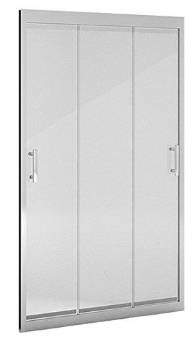 Mampara ducha_PdM_FRONTAL TRANSPARENTE 3 puertas correderas (90cm)