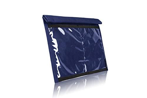 サイレントポケット クイックアクセス スマートフォンファラデーバッグ – 防水信号ブロックナイロン – デバイスシールド タブレット用 旅行 プライバシー ハッキング – マルチカラー X-Large ブルー SPUF-XLRBN