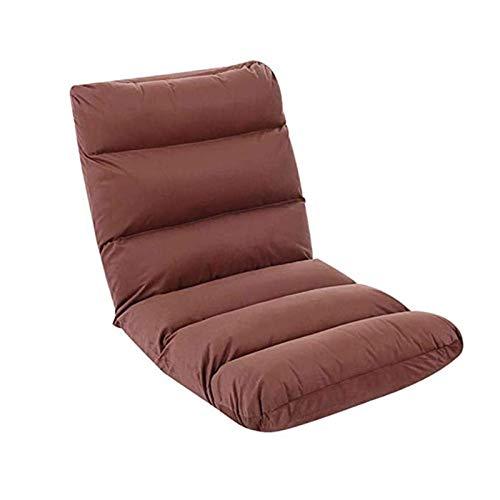 N/Z Living Equipment Lazy Sofa Home Chaise de Plancher Pliante réglable Canapé-lit élégant Chaise Longue avec café (Couleur: Marron)