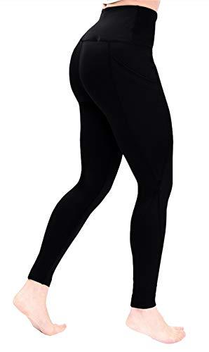 Yoga Pants with Pocket for Women High Waisted Workout Leggings Soft Tummy Control Joggers Capri Leggings (XX-Large, Black)
