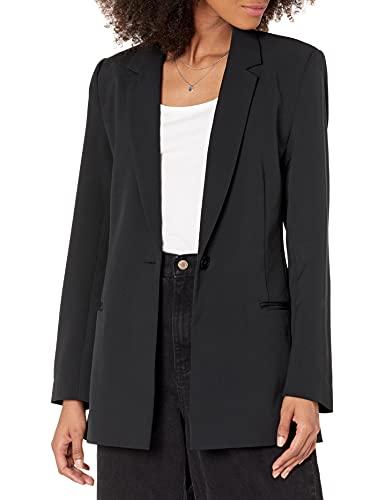 The Drop Women's Blake Long Blazer, Black, M