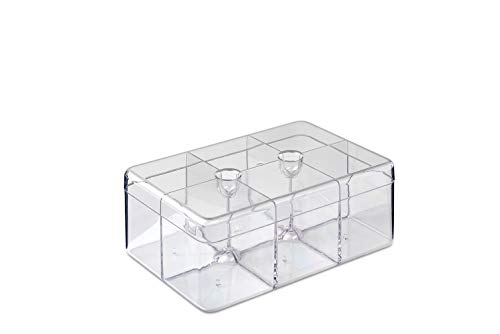 Rosti Mepal 106815053100 Caja para te Estireno-acrilonitrilo (San) - Cajas para te (Transparente, Estireno-acrilonitrilo (San), Rectangulo, 148 mm, 217 mm, 85 mm)