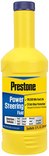 Prestone AS264 Power Steering Fluid for American Vehicles, Synthetic, 100,000 Mile, 12 oz.