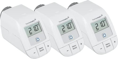 Homematic IP 3er Set Smart Home Heizkörperthermostat - basic, 156541A0, Weiß