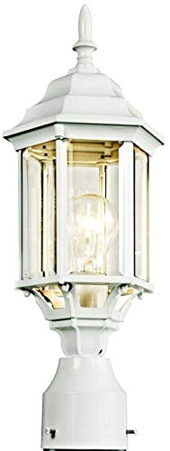Kichler 49256WH, Chesapeake Cast Aluminum Outdoor Post Lighting, 100 Total Watts, White