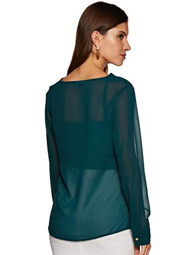 BESIVA Women's Plain Regular fit Top (BLS083C_XL_Green X-Large)