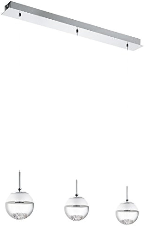 EGLO Led-Hngeleuchte Modell Montefio 1 3, chrom klar satiniert 93784 E