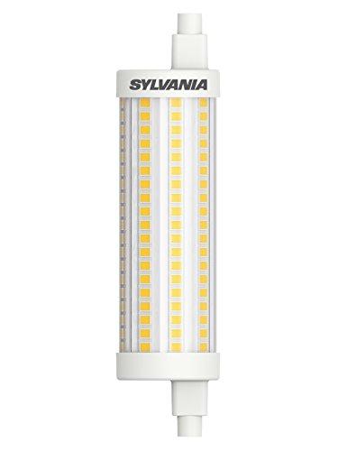 SYLVANIA LED-Lampe, R7s Sockel, 15 Watt / 2000 Lumen entspr. ca: 150 Watt, Homelight (2700K), 12000h Lebensdauer, Lineare Form, 29mm Durchmesser, 118mm Länge, Klarer Kolben, dimmbar, 1er Pack