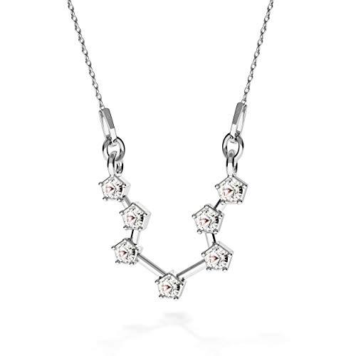 Beforia Paris - halsketting - sterrenbeeld - waterman - kristal - met zilveren ketting van 925 zilver met Swarovski® Elements hanger, cadeau, halsketting met sieradenetui PIN/75