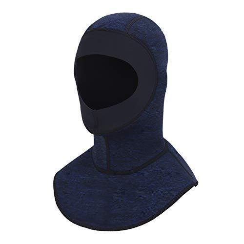 TINAYAUE Gorro de buceo de neopreno de 3 mm para hombre y mujer, con máscara de buceo, para kayak, vela, surf, natación