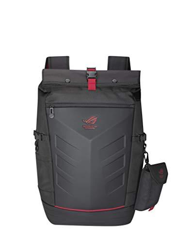 Asus ROG Ranger Backpack Gaming Rucksack (für Notebooks bis zu 17 Zoll,26 Liter, Extratasche für Zubehör, wasserfest, gepolstert) schwarz
