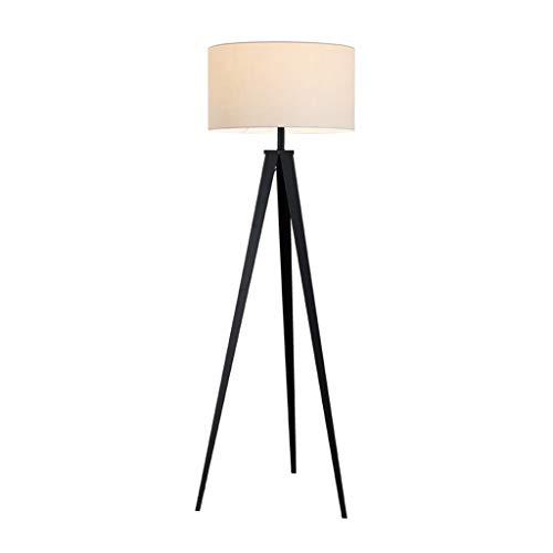 Statief vloerlamp Metalen vloerlamp voor Woonkamer Slaapkamer Lezen Staande staande staande staande lamp Tall Pole Luminaire, 155cm, 2 Kleuren 01-21