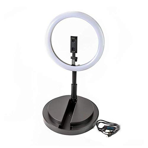Anillo de luz con Base para Video y Foto Extensible hasta 1,65...