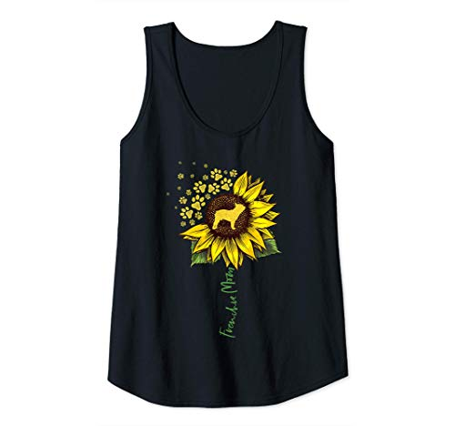 Womens Frenchie Mom Sunflower French Bulldog Lover Gifts Dog Mama Tank Top