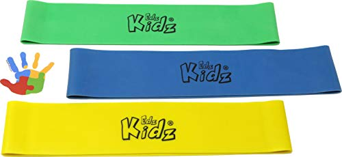 Sensoreez chair fidget Bands for Children, Kids and Teens. Set of 3 colourful elasticated latex stretchy bands for fidgety feet.