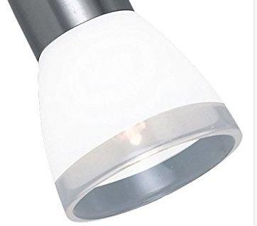 Lampenglas Lampenschirm G9 opalfarbig weiss mit Klarrand KK105 Neu