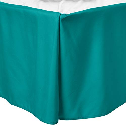 Superior 100% Brushed Microfiber Pleated Bed Skirt, Queen,...