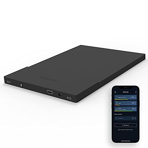 ARROE App-Enabled Laptop Power Bank 20000mAh with Accessories: USB-C PD 60W Wall Charger, International Adaptor Plugs & Laptop Connectors - Smart Charging System for All Devices