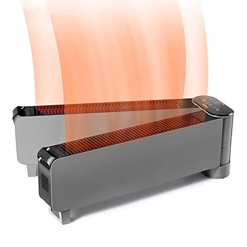 Calentador de zócalo plegable de 3000 W, calentador eléctrico de convección portátil, radiador de zócalo de ahorro de energía con IPX4 a prueba de agua, termostato, calentador con temporiza