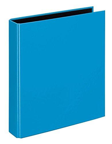 Veloflex 1151351 Ringbuch VELOCOLOR, Ringordner, Ordner, DIN A5, 2-Ring-Mechanik, 200 x 230 x 45, Karton, blau